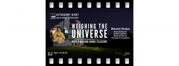 Weighing the Universe with a Balloon-Borne Telescope with Mohamed Shaaban