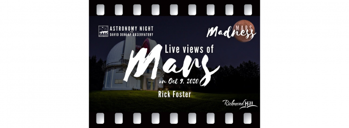 Live Views of the Mars Opposition 2020 - Rick Foster