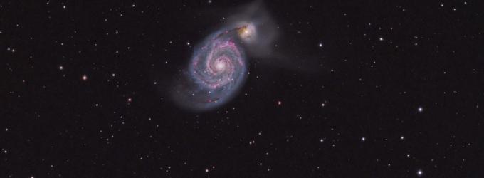 M51 Whirlpool Galaxy (Credit: RASC Member Lynn Hilborn)