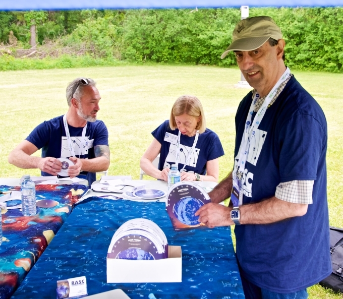 volunteers at booth on DDO opening day