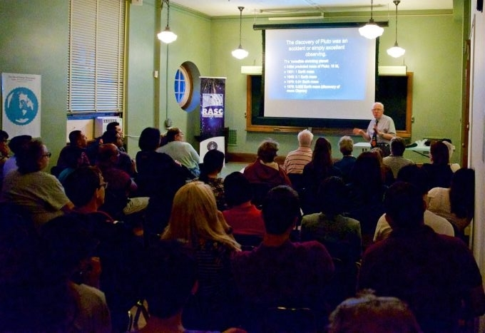 planet 9 lecture in progress at the DDO