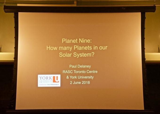 opening slide on Planet 9 talk