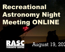 Recreational Astronomy Night ONLINE - August 19, 2020
