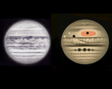 Étienne Trouvelot's images of Jupiter in 1877 and 1880