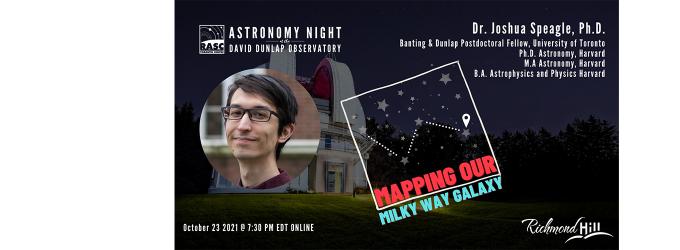 Oct23 Astronomy Speaker's Night - Joshua Speagle