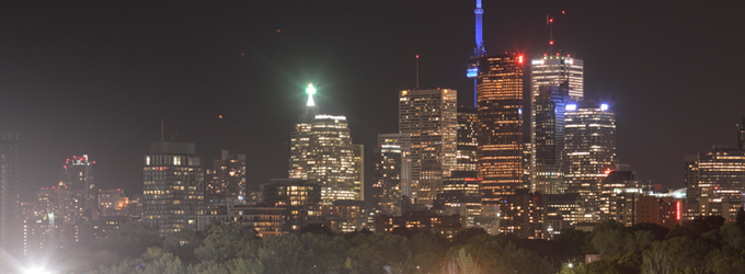 Light pollution in Toronto