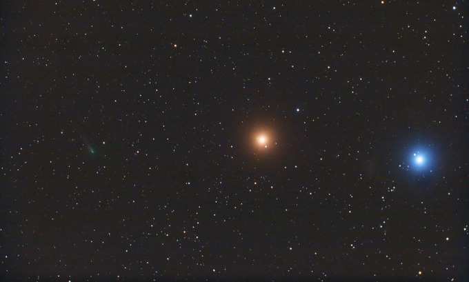 Comet ISON, Mars and Regulus by Chris Schur