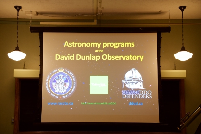 presentation in lecture hall on DDO opening day