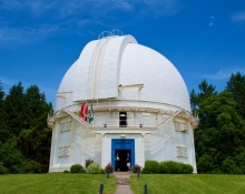 doors open at the David Dunlap Observatory dome