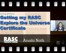 Getting my RASC Explore the Universe Certificate