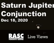 Saturn and Jupiter Conjunction Live, December 18, 2020