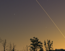 western sky late April showing fleeting Mercury
